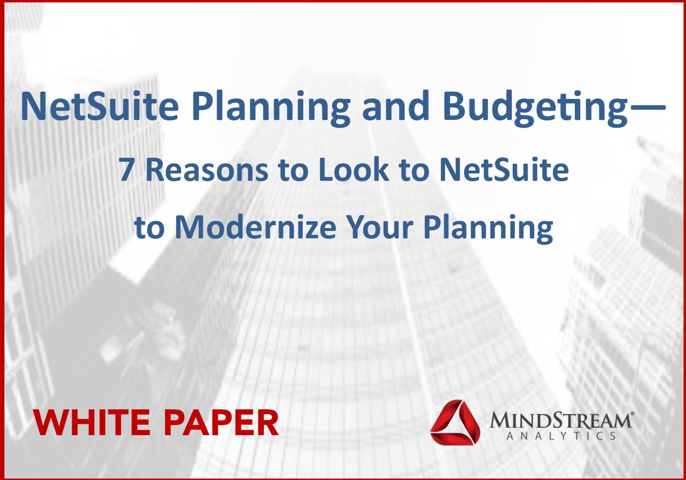 Oracle Netsuite Planning and Budgeting