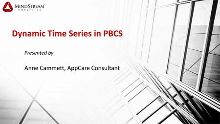 PBCS Dynamic Time Series