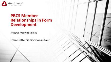 PBCS Member Relationships in Form Development