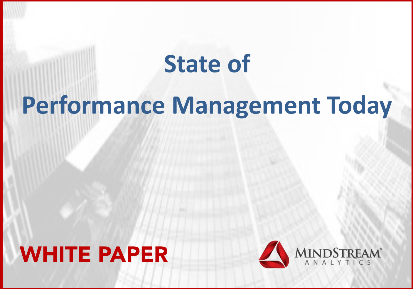 State of Performance Management Today